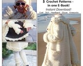 5in1-Winter White Crochet Collection - Instant Download Pdfs