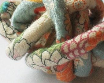 Japanese Chirimen kimono fabric cord c74