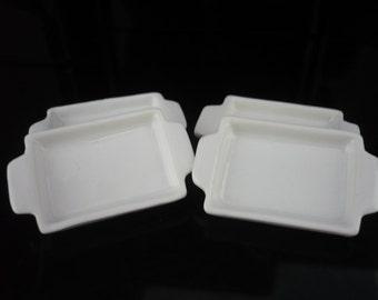 2x White Baking Pan/Tray (18x25 mm)Dollhouse Miniature Kitchenware Jewelry