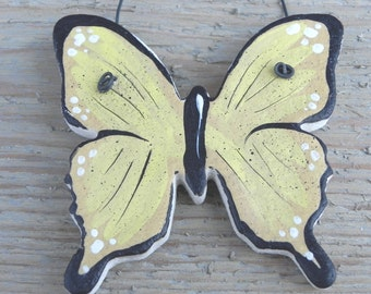 Yellow and Black Salt Dough Butterfly Ornament / Favors / Butterfly Party