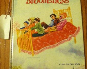 Walt Disney Productions Presents Bedknobs and Broomsticks A Big Golden Book - 1971 edition - Golden Press Book