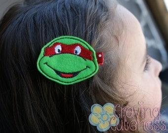 Raphael Hair Clip - Teenage Mutant Ninja Turtle Inspired