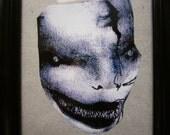 "Creepy Evil Mannequin Porcelain Doll Face  - Sealed Framed Photograph 5x4.5"""