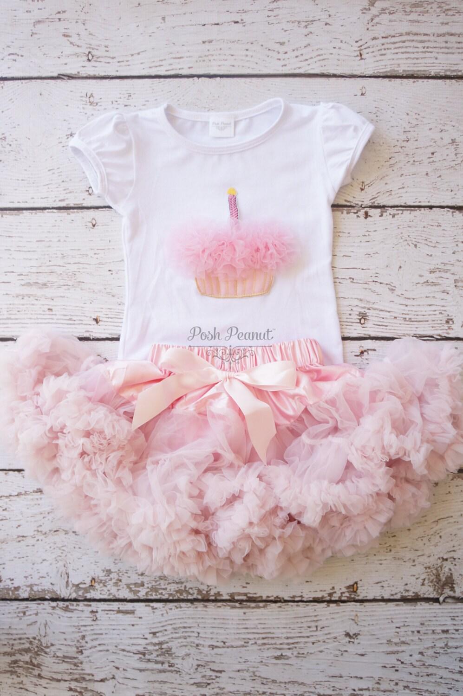 Pettiskirt Tutu Girls First Birthday Outfit Pettiskirt