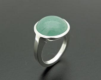 aventurine silver ring