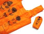 Original, practical, modern, mini, bright orange tote bag / shopper