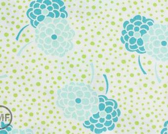 Half Yard Simply Style Dotty Mums in Aquatic Blue and Green, Vanessa Christenson, Moda Fabrics, 100% Cotton Fabric, 10812 17