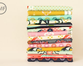 Fat Quarter Bundle Mustang Full Collection, 14 Pieces, Melody Miller, Cotton+Steel, RJR Fabrics, 100% Cotton Fabric