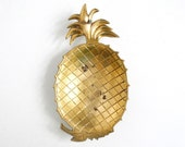 Large Vintage Brass Pineapple Tray
