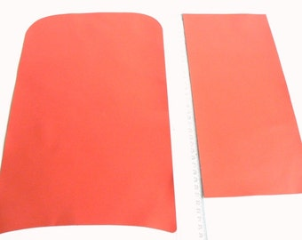 Corai(2 pieces)-Genuine leather. -Lambskin .Red/For Jewelry,Accessories ,Decorations...