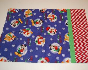 Handmade Travel Pillow Pillowcase--Disney Christmas