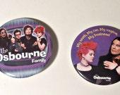 2 Vintage Pinback Button The Osbourne Family Pins Button 1980's