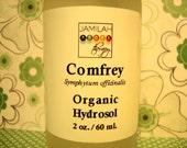Organic Comfrey Hydrosol - Gentle, Subtle Aroma, Good for Skin - Comfrey Hydrolat, Comfrey Distillate, 100% Organic Hydrosol, Skin Health
