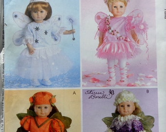 McCall's Crafts Sewing Doll Clothes Wardrobe Pattern M4741 Theresa Borelli FAIRY - Fits American Girl Our Generation Carpatina Gotz Dolls