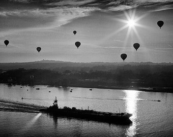 Hot Air Balloons of the Hudson River Valley, New York, Mountains, Photo, Photography