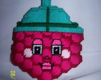 Plastic Canvas Raspberry  Tote Bag /Purse