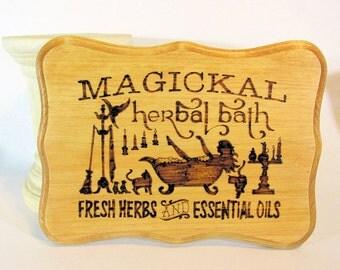 Magickal Bath plaque