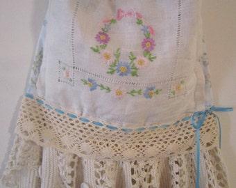 "Sale! Blue and Vintage Fabric ""Shabby Sacks"" Handbag"