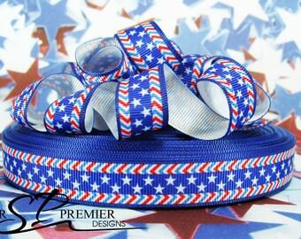 """5/8"""" Patriotic Grosgrain Ribbon"""