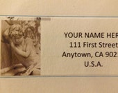 Angel Statue Return Address Label