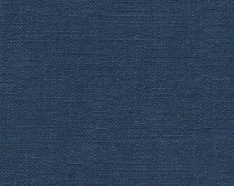Linen Look Fabric - Durable and Attractive- Linen Polyester Combination- Upholstery, Drapery, and Bedding Fabric- Color: Sapphire - per yard