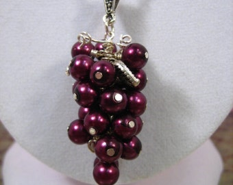 Red Grape Cluster Necklace