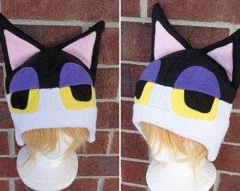 Punchy the Cat - Animal Crossing - Fleece Hat Adult, Teen, Kid - A winter, nerdy, geekery gift!
