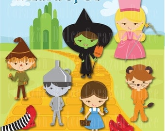 Wizard of Oz -Clip Art Set- INSTANT DOWNLOAD