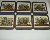 Pimpernal Acrylic Coaster Set (6)  Floral Array #0126003  X3/1/5
