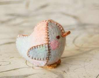 Baby Colors Felted Baby Chicken Toy  -- Ecofriendly Small Handmade Felt Pure Wool Animal -- For all Ages Cute Felt Toy