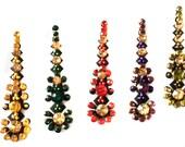 BINDI Pack 5 long Swarovski crystal BINDIS,Indian Bindi,India, Self Adhesive Tattoo Body Art Wedding & Bridal sticker Jewelry