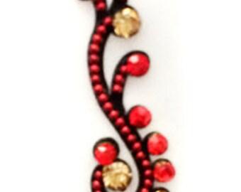 Red PEACOCK STONE BINDI,Indian Bindi,India, Self Adhesive Tattoo Body Art Wedding & Bridal sticker