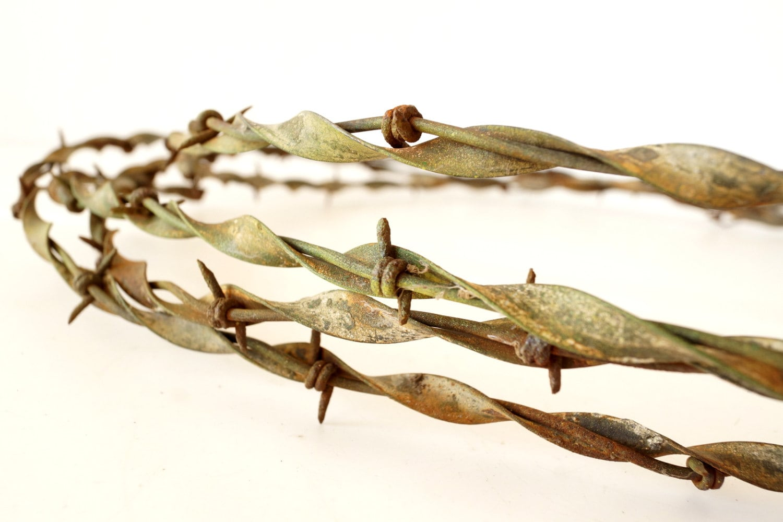 Vintage antique rustic barbed wire brinkerhoff by thirdshift