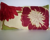 SALE CLEARANCE Burgundy Floral Pillow Richloom Emily