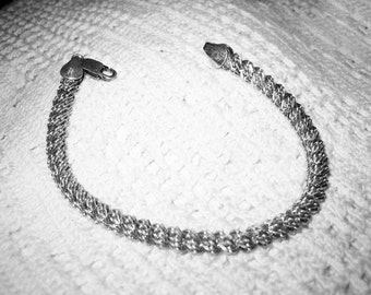 Vintage Sterling 925 Round Twisted Bracelet MBC Italy