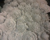 White Paper Flower Wall  8ft x 8ft   Extra Large Paper Flowers Decoration Photo Backdrop Prop
