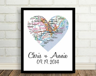City Map Poster Print Heart City Map Any City Available Worldwide Office Art Modern Wall Art Engagement Gift Anniversary Gift Valentine Gift