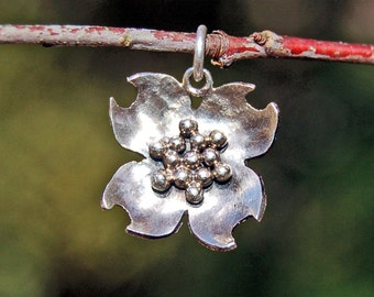 Silver Dogwood Pendant