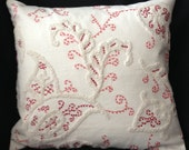 FRENCH PAISLEY EMBROIDERED Chenille Pillow Cover (1274)