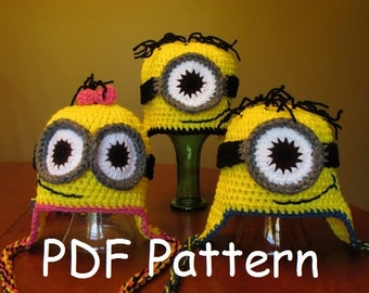 Minion Look Alike Hats for the Entire Family - Pattern