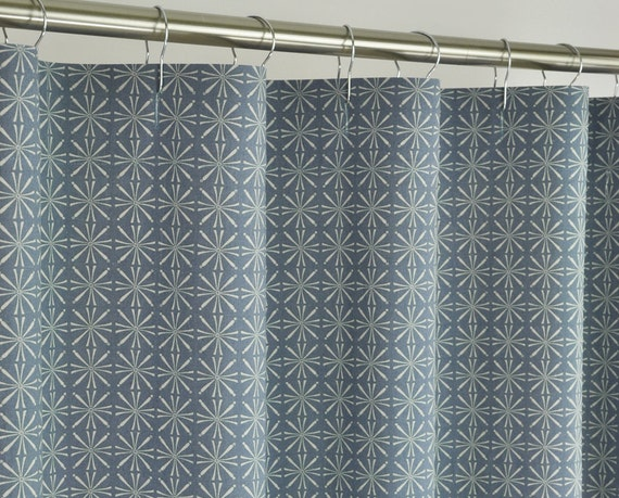 84 long denim blue shower curtain 72 x 84 long by pondlilly