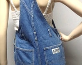 Vintage 80's  Denim  Cut Off Shortalls/Overalls  - Size XS-Small