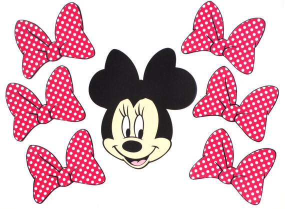 free printable minnie mouse bow template - items similar to pin the bow on minnie mouse themed party