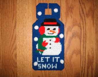 Snowman Let it Snow Doorknob Hanger