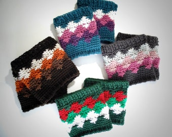 Crochet PATTERN - Spark and Ember Boot Cuffs
