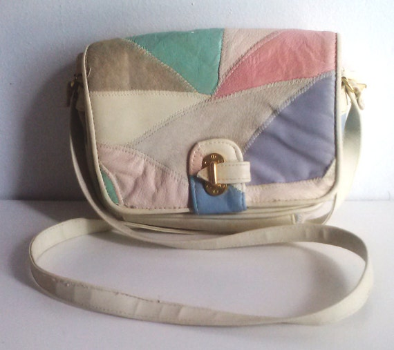 Cross body bag /  small cross body /  pastel leather bag
