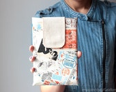 iPad mini case or sleeve - Travel - Cotton - Nook HD