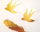 Golden birds of a feather