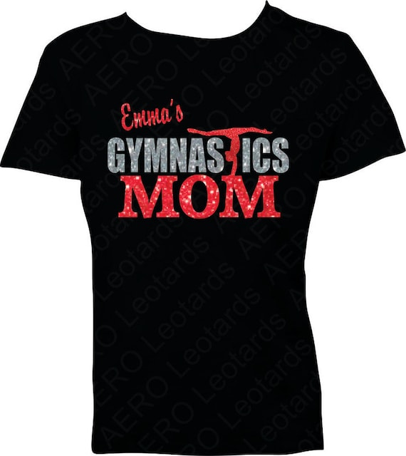 Gymnastics T Shirt Gymnast Sparkle Gymnastics Mom By