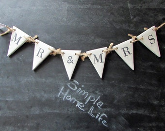 Mr & Mrs Clay Bunting - Great For Weddings,Chair Decor,Framed and More